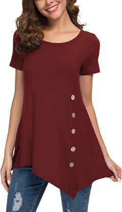 Picture of Women Neck Button Side Tops